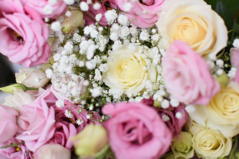 Bouquet rose lisianthus