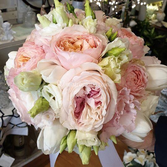 Bouquet rose inglesi