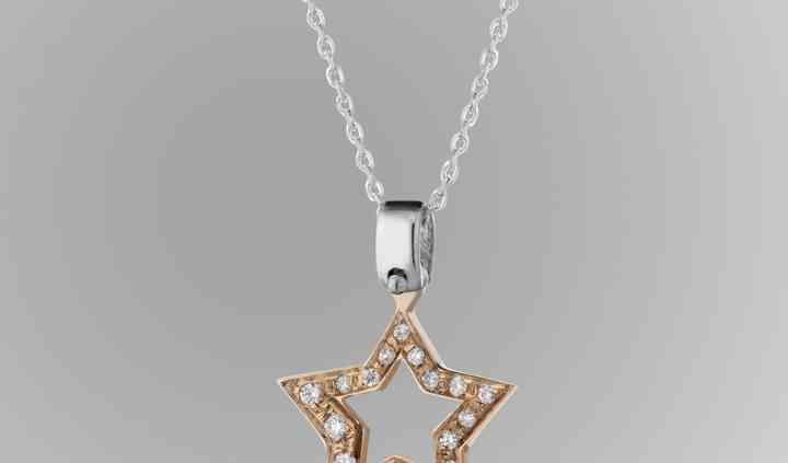 Moon: pendente oro e diamanti