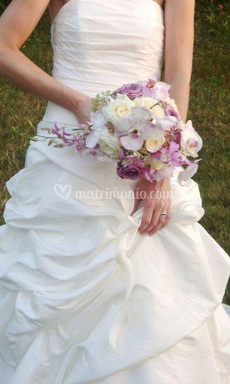 Bouquet bianco lilla