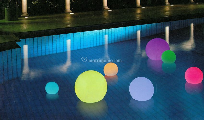 Floating Globe Colorful Lights