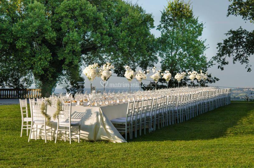 Villa Nena: tavolo imperiale