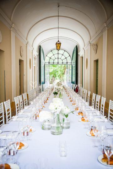 Villa Koch: tavolo imperiale
