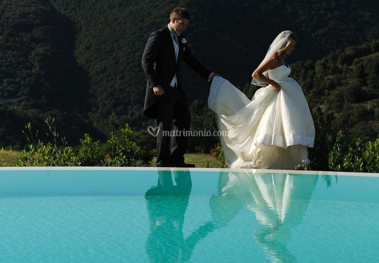 Tenuta di murlo for Addobbi piscina per matrimonio