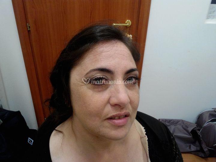 Prova sposa occhio sinistro