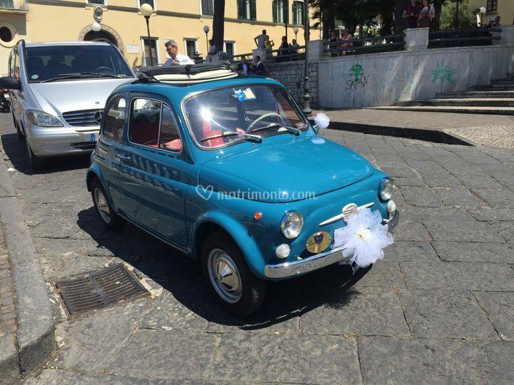 Matrimonio In Fiat 500 Vintage