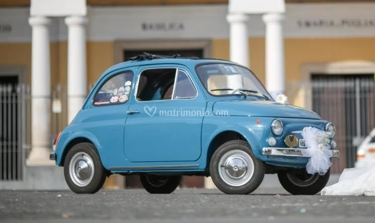 fiat 500 f di matrimonio in fiat 500 vintage foto. Black Bedroom Furniture Sets. Home Design Ideas
