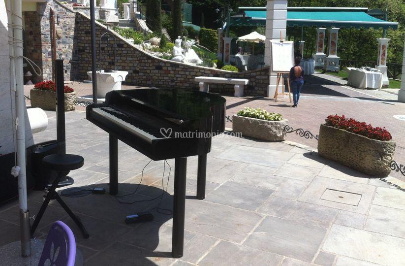 Scocca pianoforte nera