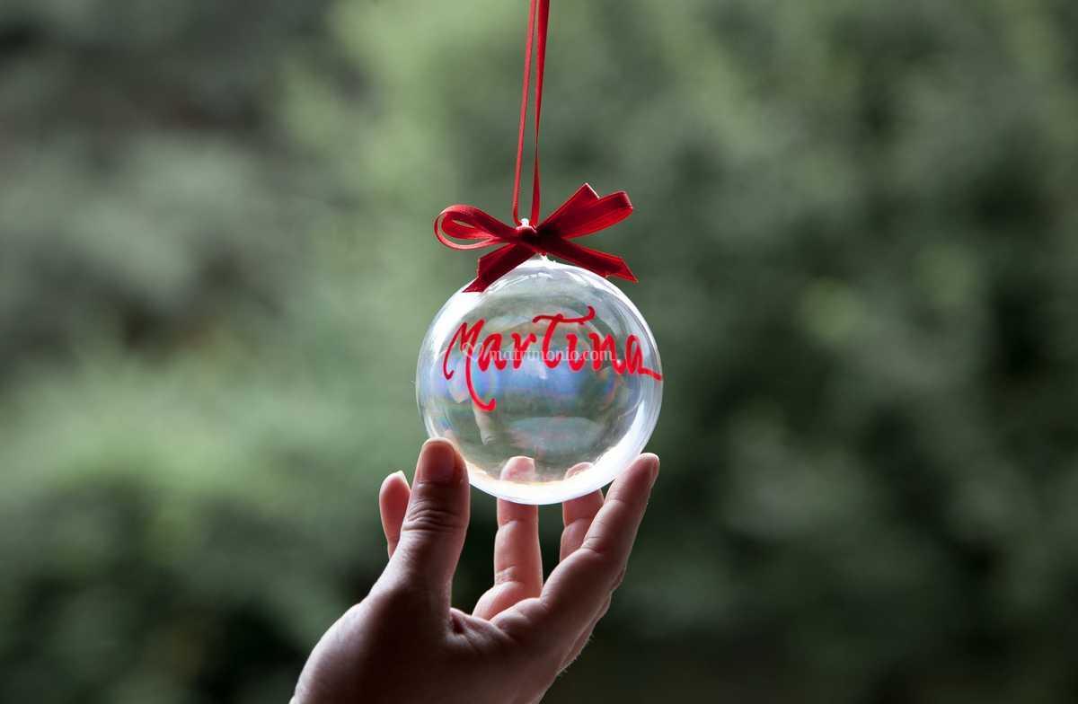 Pallina vetro scritta a mano