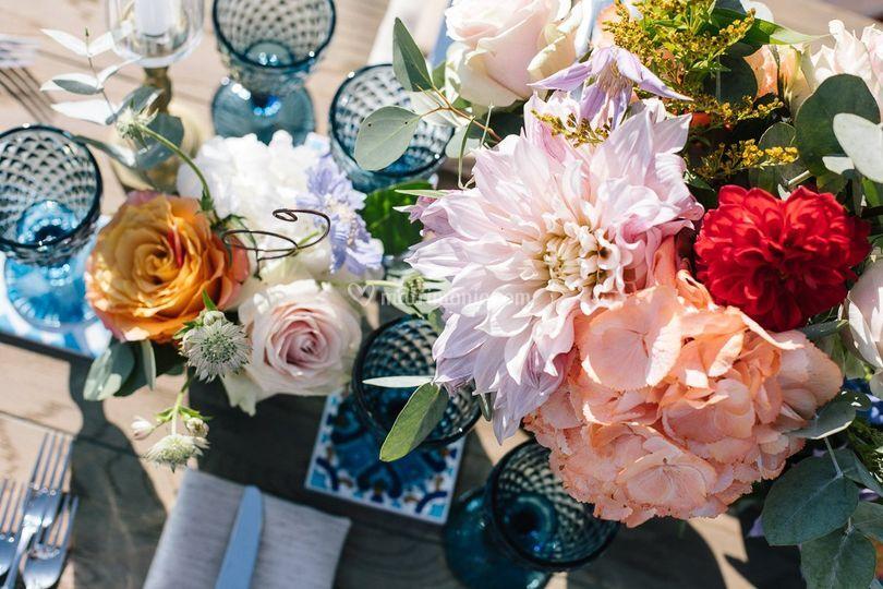 Boho wedding blue palette