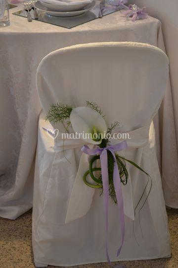 Sedia sposi e invitati