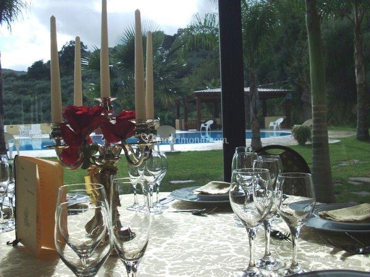 L'interno sulla piscina