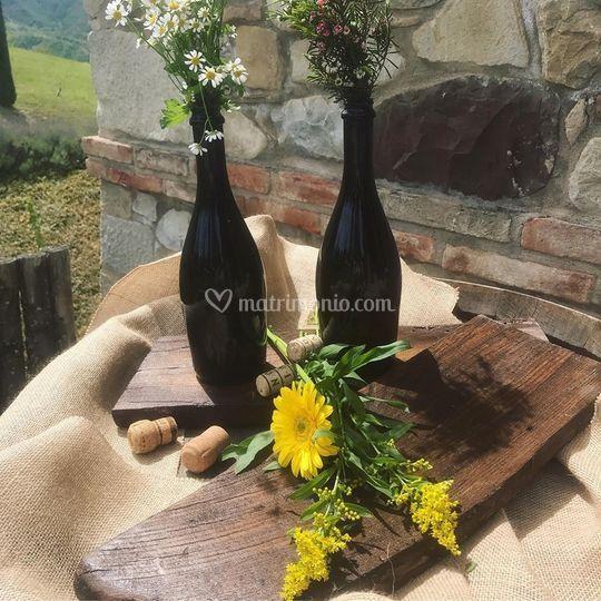 Stile country tema vino