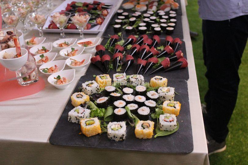 Buffet aperitivo (sushi)