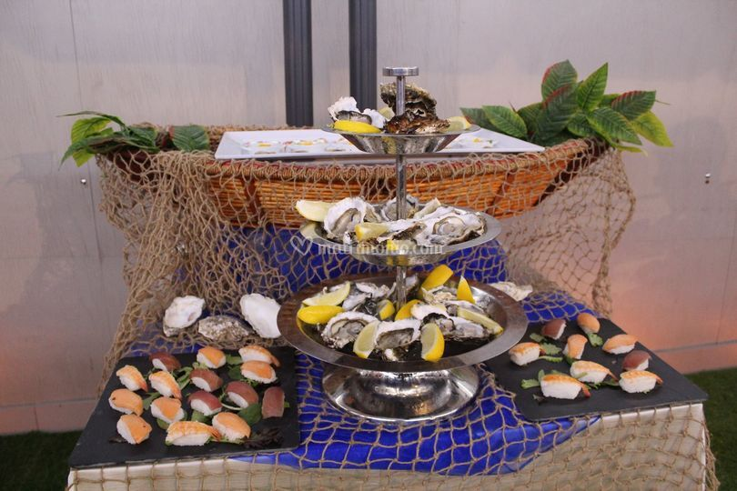 Buffet aperitivo (ostriche)