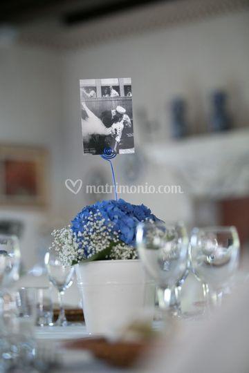 Pubblicazioni Matrimonio Romano Di Lombardia : Centrotavola con ortensia di arte verde valsecchi