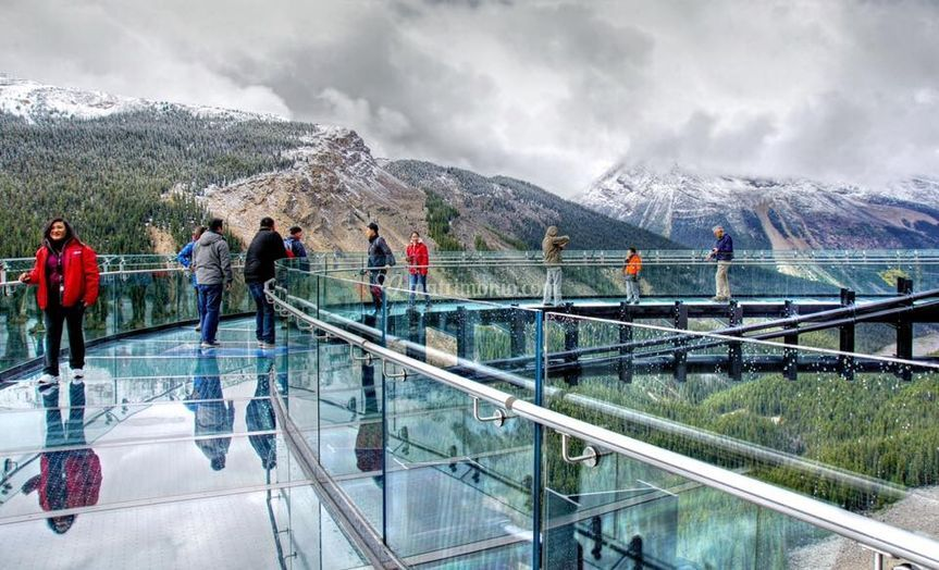 The glacier skywalk in jasper