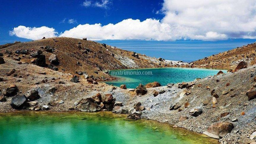 Tongariro laghi smeraldo