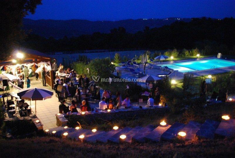 Festa notturna zona piscina