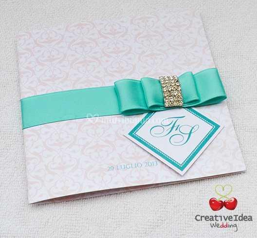Partecipazioni Matrimonio Color Tiffany.Partecipazione Color Tiffany Di Creative Idea Wedding Foto 2