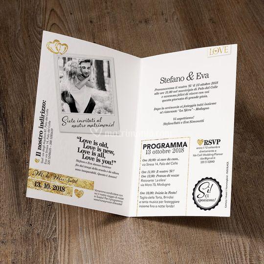 Partecipazioni magazine oro