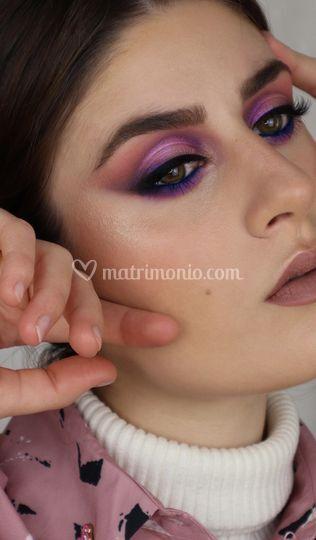 Makeup toni viola