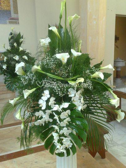Preparazione con orchidee