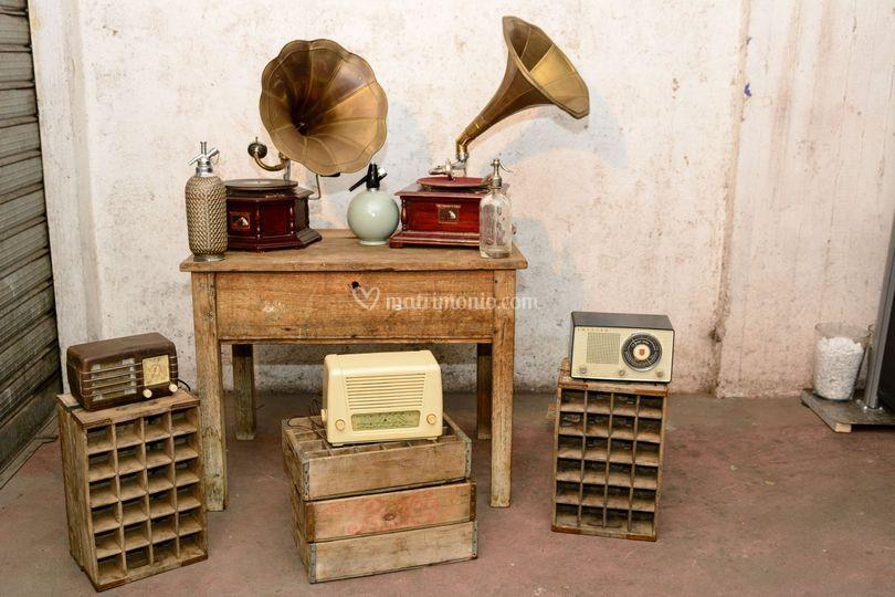 Grammofoni e radio vintage