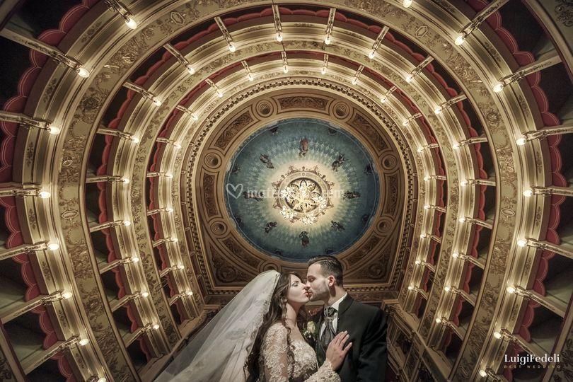 Bacio a teatro