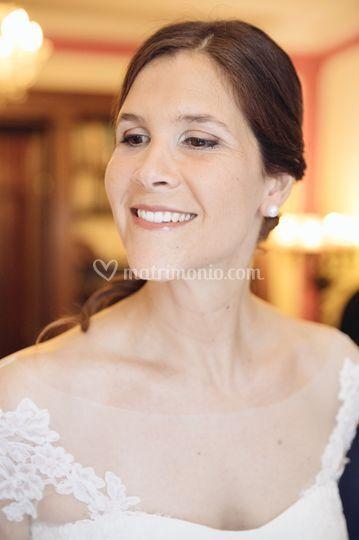 Giulia, sorridente