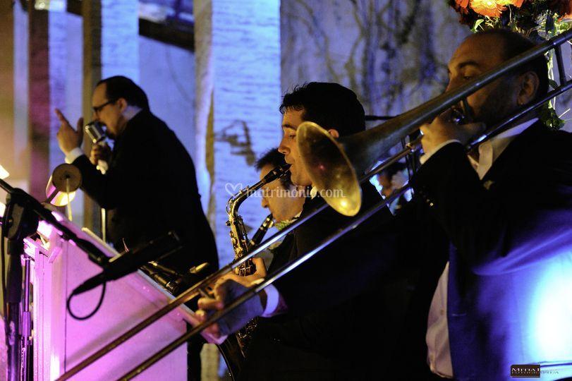 Gala festile, l'orchestra.