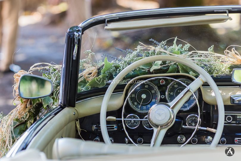 Country chic wed, l'auto