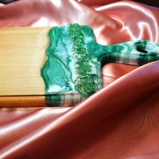 Tagliere legno resin art