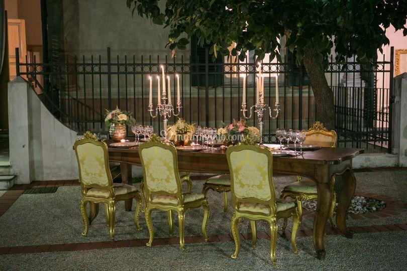 Palazzo della meridiana for Allestimento giardino