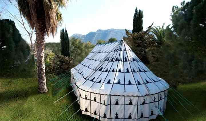 Tenda berbera chiusa