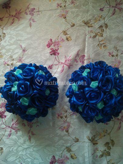 Bouquet damigelle blu e verde