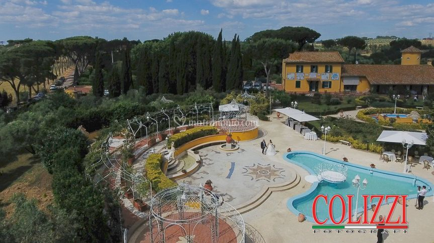 Panorama con piscina
