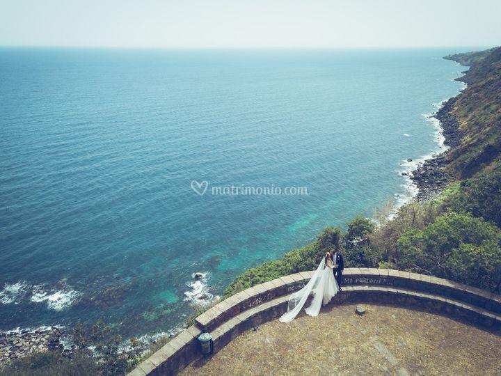 Drone and sea