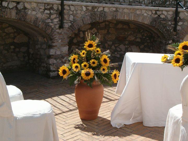 Matrimonio Girasoli E Spighe : La corolla fiori