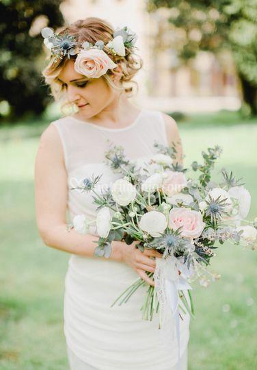 Bouquet e coroncina