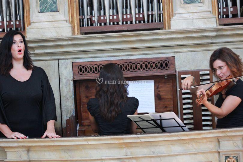 Voce, violino, organo