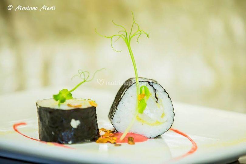 Sushi di baccalà