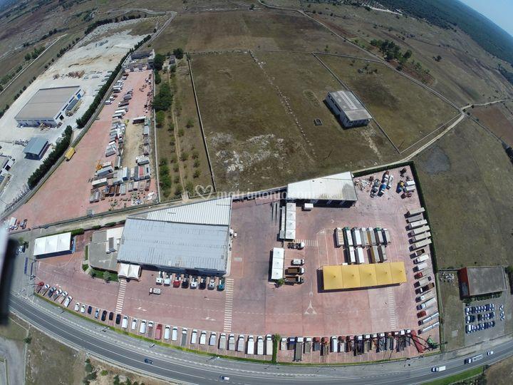 Foto drone dell'intero piazzal