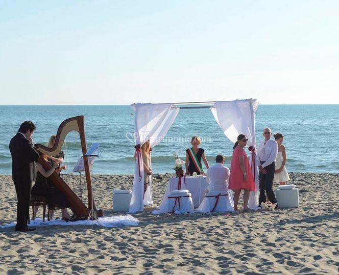Matrimonio civile sul mare