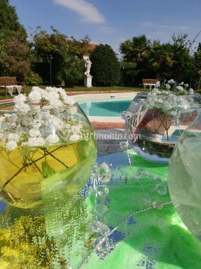 Fiori in pool