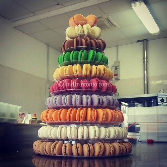 Piramide di macaron
