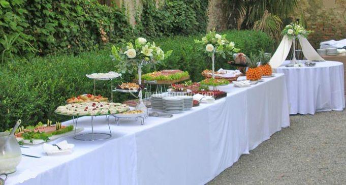 Celebrare il vostro matrimonio con questo buffet