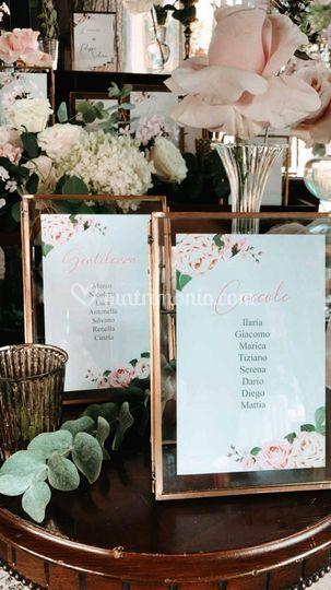 Dettaglio wedding tableau