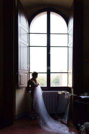 Preparazione sposa prato