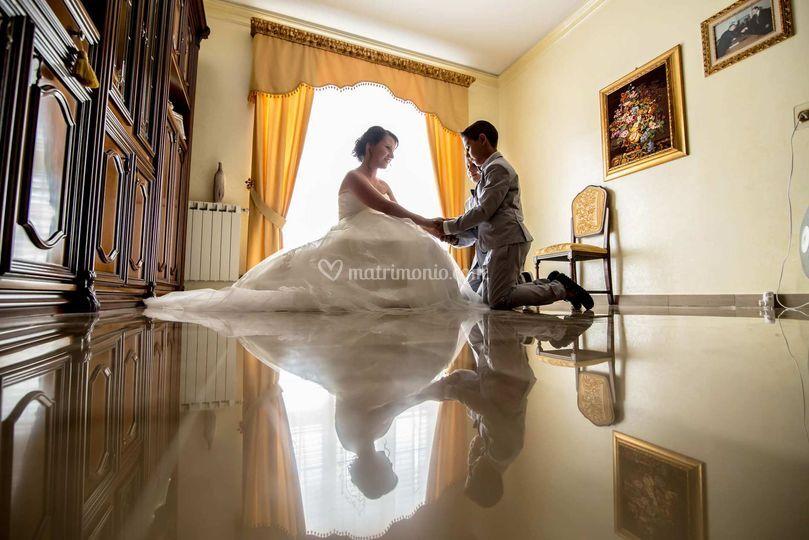 Sposa con damino